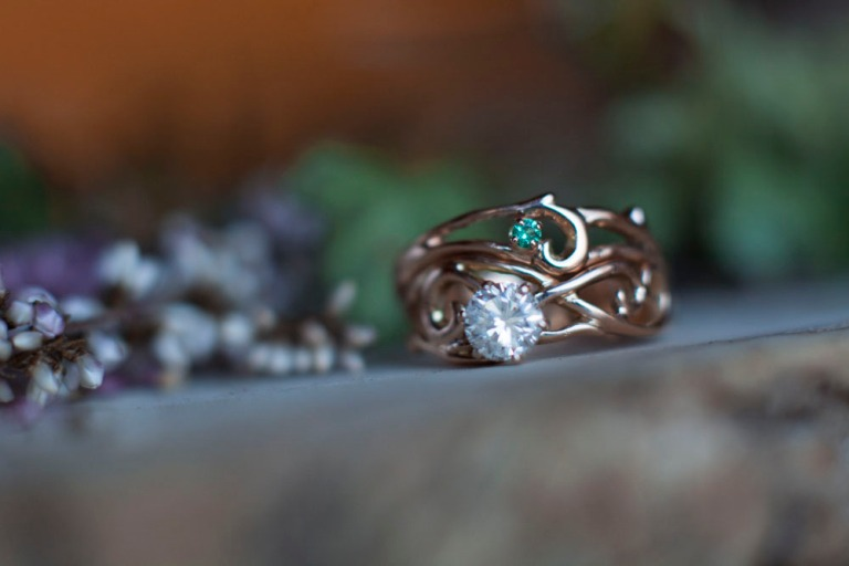 rose gold diamond emerald_4