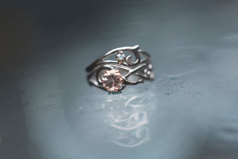 white and rose morganite